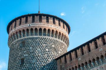 Castello Sforzesco, cinta muraria, Milano