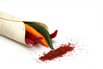 Wrap mit Chilis