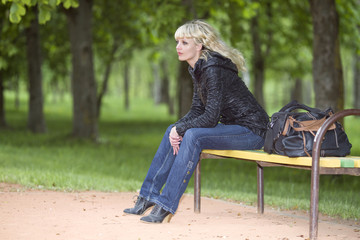 Woman has a rest in the Park