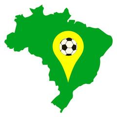 Localisation du brésil