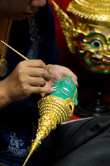 Mask used in Thai performance