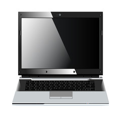 realistic vector laptop isolated on white