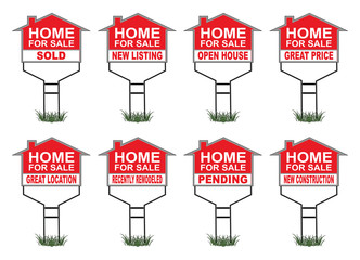 Home For Sale Signs With Riders
