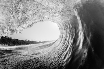 Wave Hollow Crashing Inside Ocean