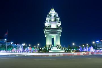 independence monument in phnom penh,Cambodia