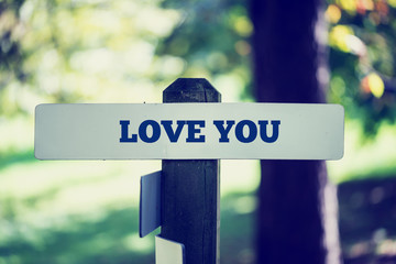 Love you signpost
