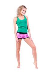 beautiful sporty woman posing