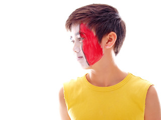 flag face painting