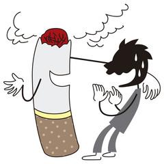煙草の誘惑を断る男性