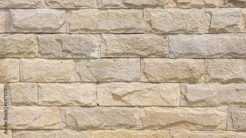 Wall lined with limestone slabs - 64792185