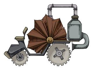 fantastic steam engine car
