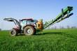 Leinwanddruck Bild - Feldspritze, Pflanzenschutz