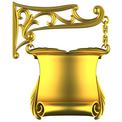 gold signboard