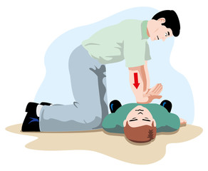 first aid cardiac massage