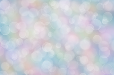 Abstract pastel rainbow background with boke