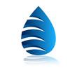 Постер, плакат: логотип вода