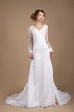 Graceful Exquisite Auburn Bride in Wedding Dress