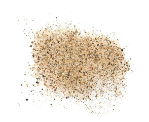 pile sand isolated on white background