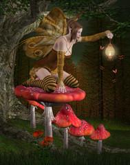 Midsummer night's dream series - Fairy into the wood