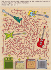 guitar maze game for children