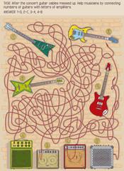 guitar maze game for children