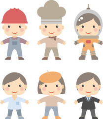 people of different professions, vector illustration