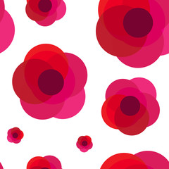 The vector illustration of flowers background