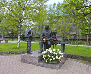 Veteran monument in Moscow