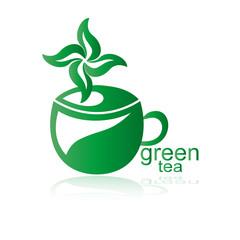 логотип зеленый чай