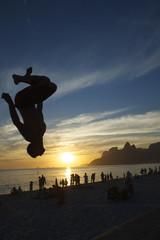 Sunset Flip Silhouette Rio de Janeiro Brazil