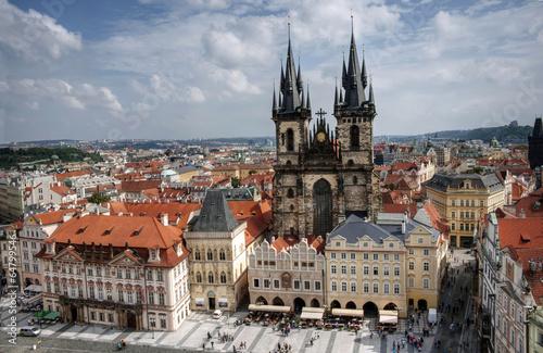 Staande foto Praag Old town square in Prague (Praha)