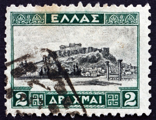 Postage stamp Greece 1927 The Acropolis of Athens