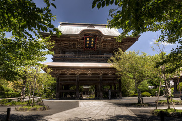 The somon, entrance gate,  at japanese temple in Kamakura