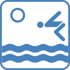 Schwimmen Baden Logo