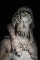 A statue of powerful Hercules, closeup, Rome, Italy