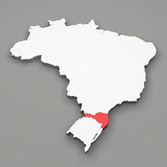 Mappa Brasile, divisione regioni Santa Catarina