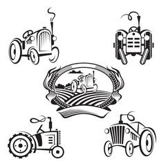 set of tractors