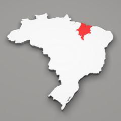 Mappa Brasile, divisione regioni Maranhao