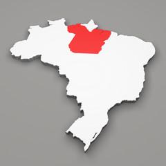Mappa Brasile, divisione regioni Parà