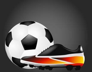 Fußballschuh mit Ball - Deutschland