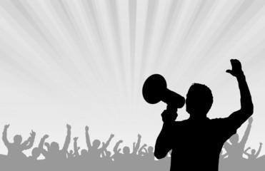 Mann Lautsprecher Menschen