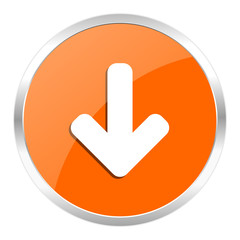 download orange glossy icon