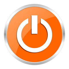 power orange glossy icon