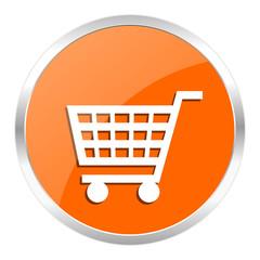 cart orange glossy icon