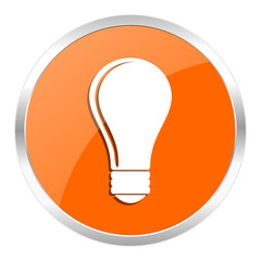 bulb orange glossy icon