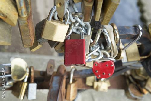 Foto op Plexiglas Kiev Locks on bridge of lovers