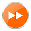 rewind orange glossy icon