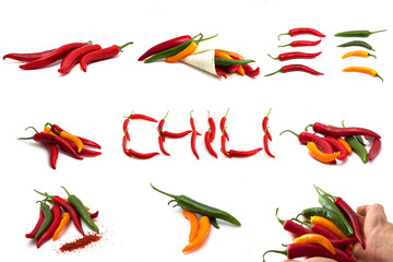 Chili Mix Collage