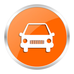 car orange glossy icon