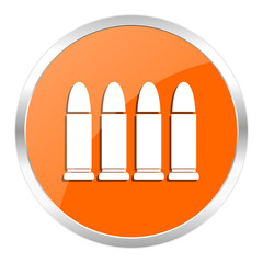 ammunition orange glossy icon